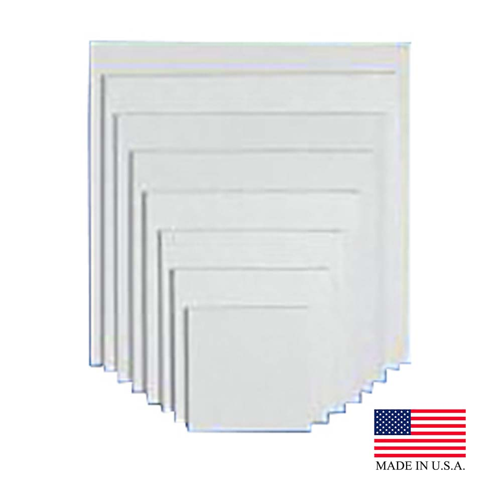 "Die Cut Prod. - White 18""x14"" Corrugated Wall Rectangular Cake Pad 18X14 CTD"