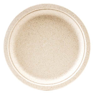 "Green Wave Intl Beige 6"" Bagasse Ovation Round Plate OV-P006"