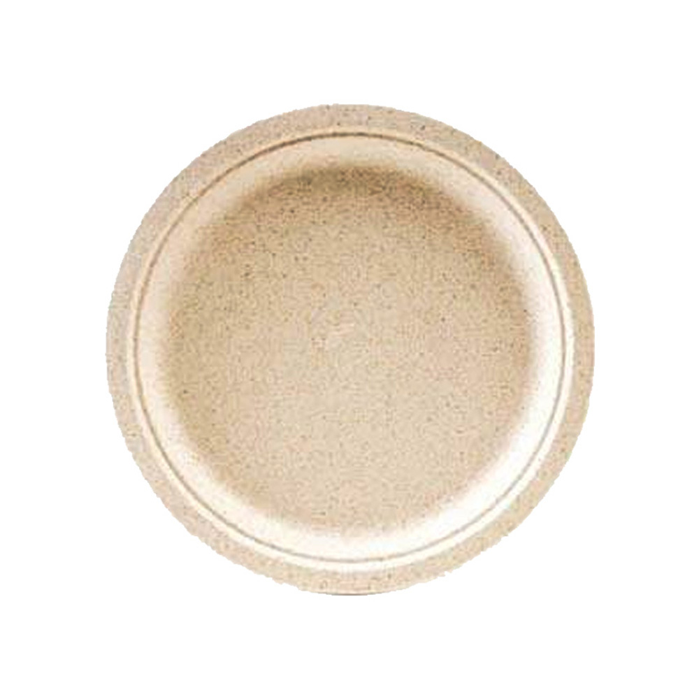 "Green Wave Intl. - Ovation Beige 7"" Round Bagasse Plate OV-P007"