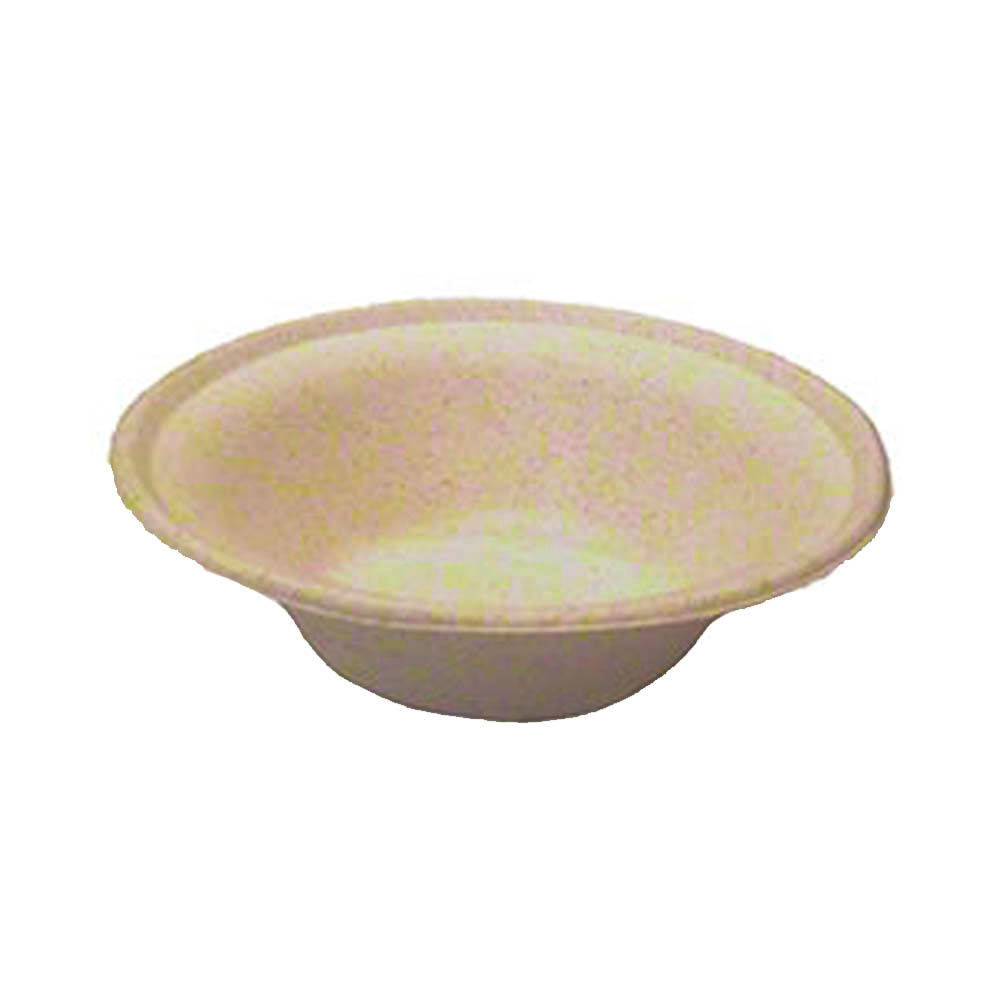 Green Wave Intl. Inc. - Ovation Beige 12 oz. Round Bagasse Fiber Bowl OV-BL12
