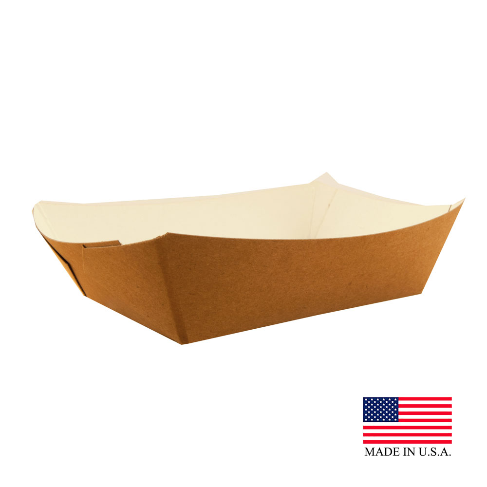 Specialty Quality Kraft & White #100 Eco Friendly Food Tray 8131