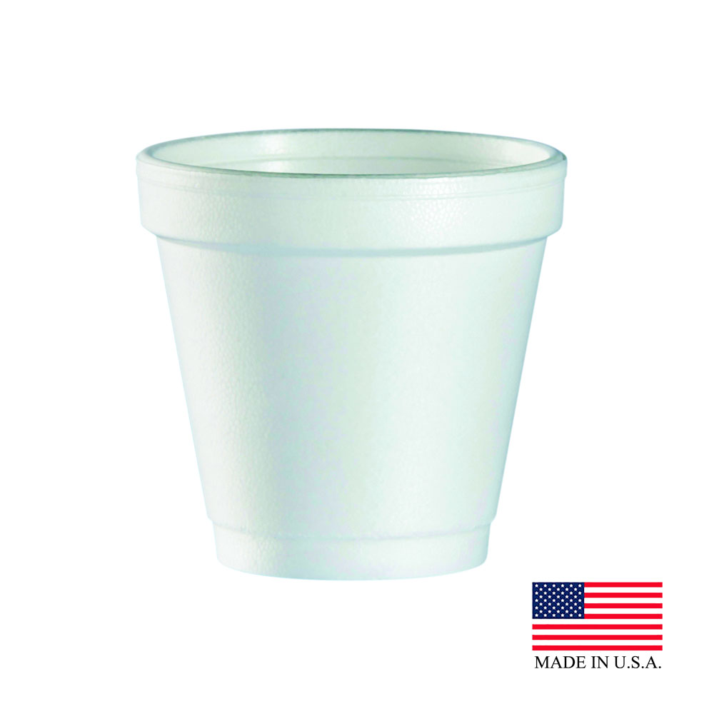 Dart White 4oz Foam Cup 4J4