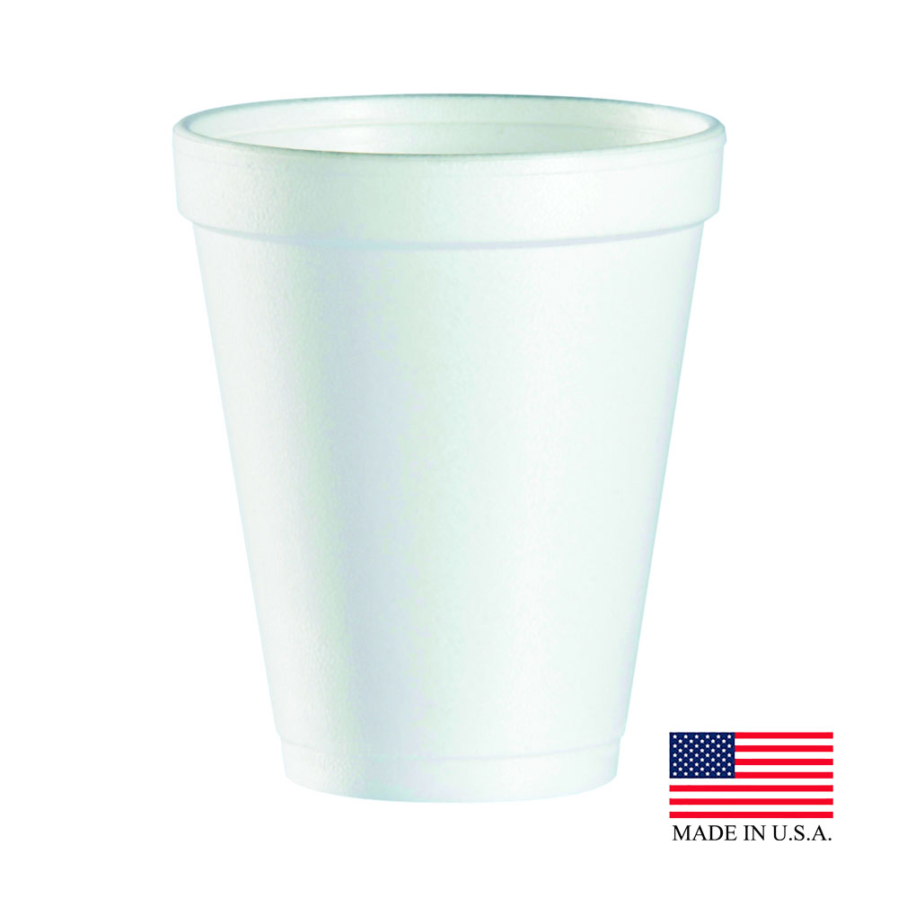 Dart White 10oz Foam Cup 10J10