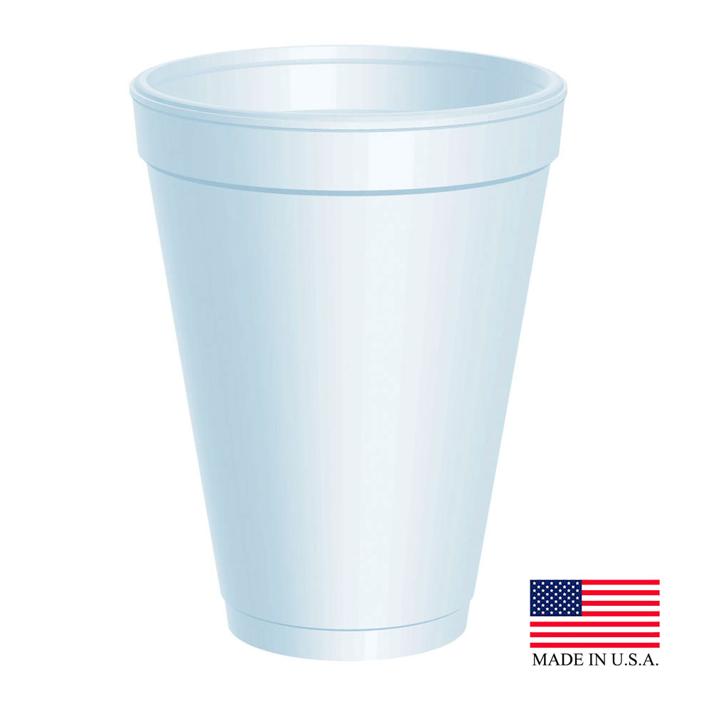 Dart White 12oz Foam Cup 12J12