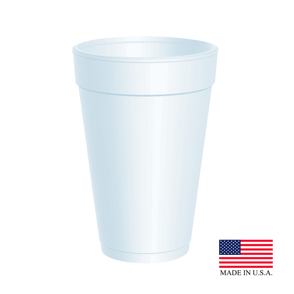 Dart White 16oz Foam Cup 16J16