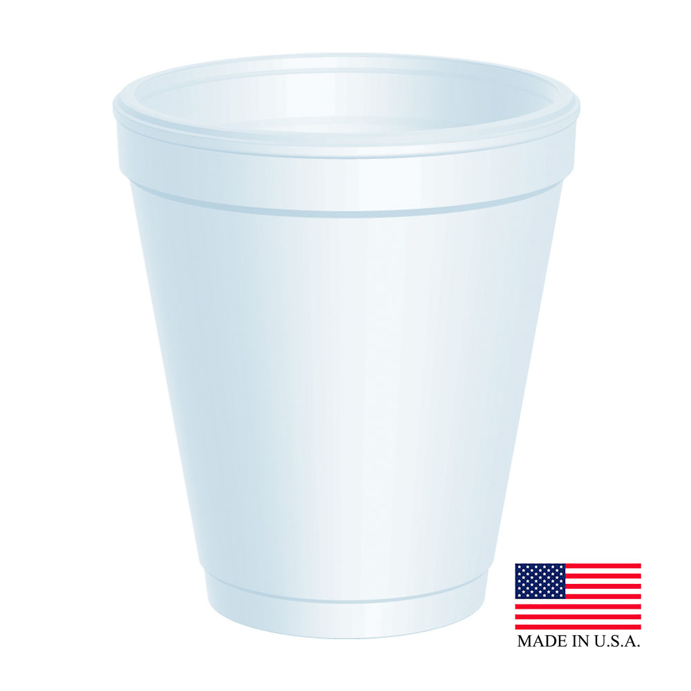 Dart White 8oz Foam Cup 8J8
