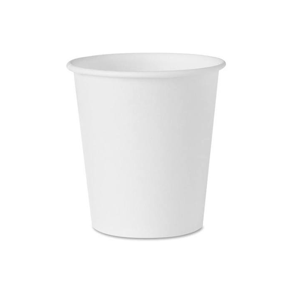 Solo White 3oz Bare Eco-Forward Treated Paper Cone Water Cup 44-2050