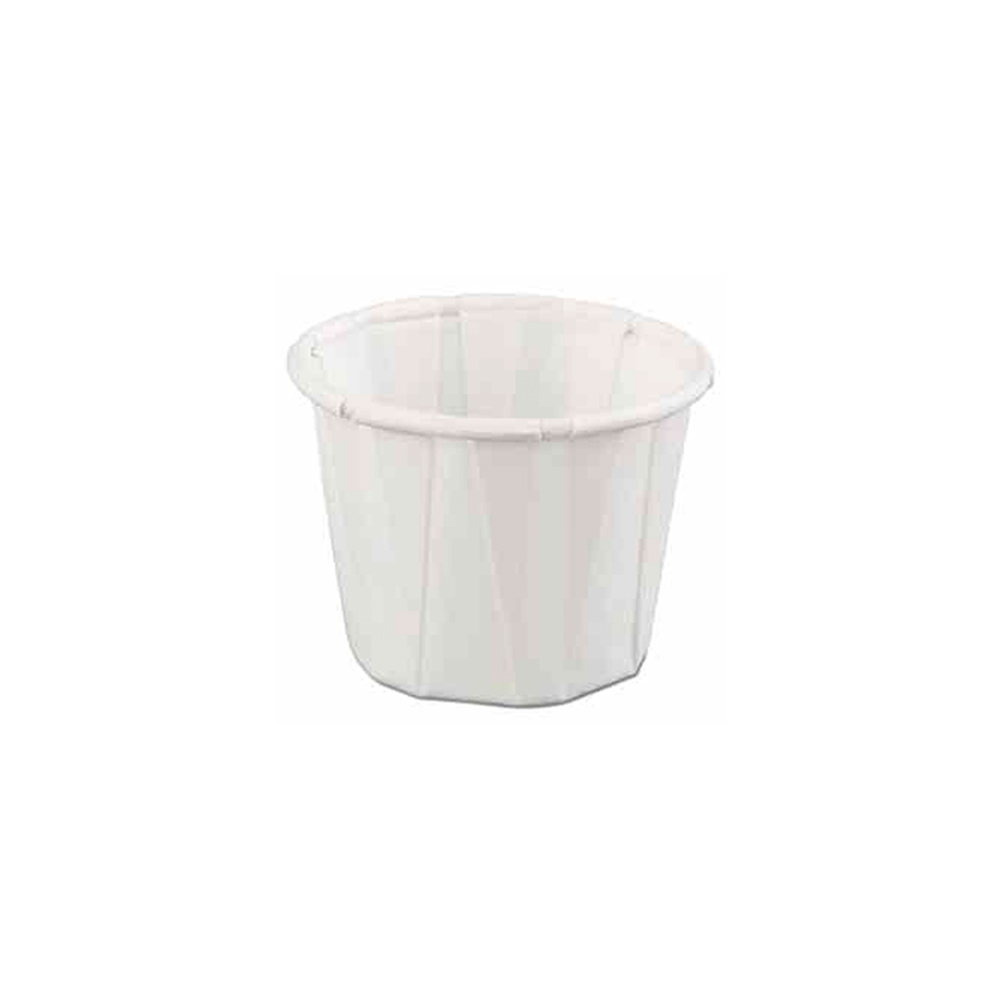 GenPak White 1.25oz Pleated Portion Cup F125
