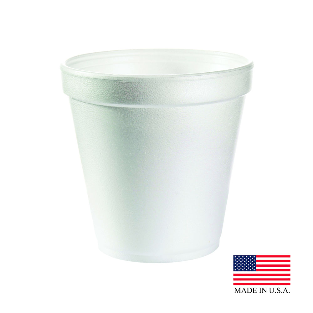 Dart White 16oz Squat Foam Container 16MJ20