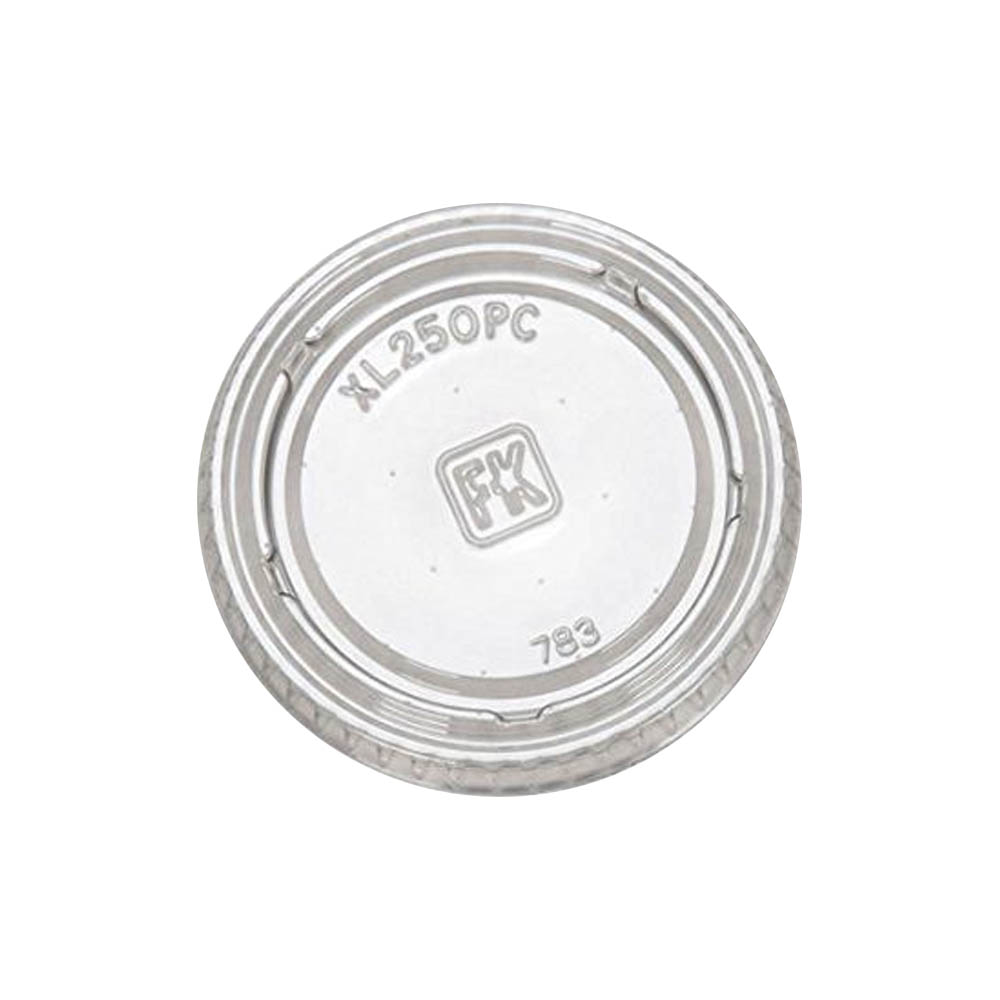 Fabrikal Clear 2oz Portion Cup Lid XL250PC/9505083