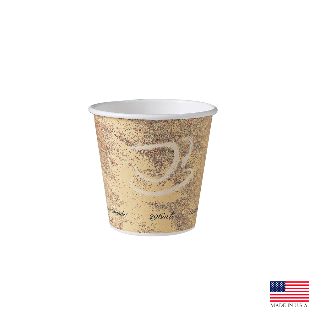 Solo Mystique 10oz Single Poly Paper Squat Cup    510MS-0029