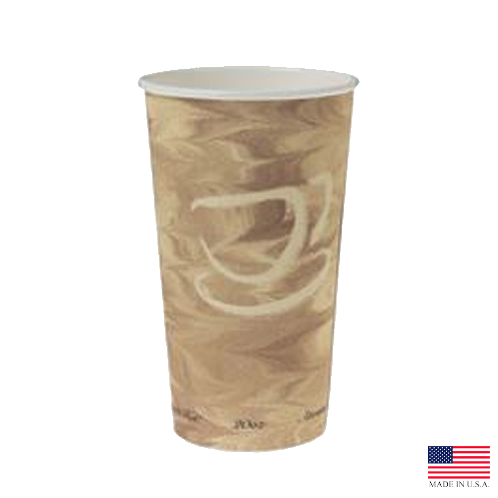 Solo Cup Co. - Mistique 20 oz. Poly Coated Paper Hot Cup   420MS-0029