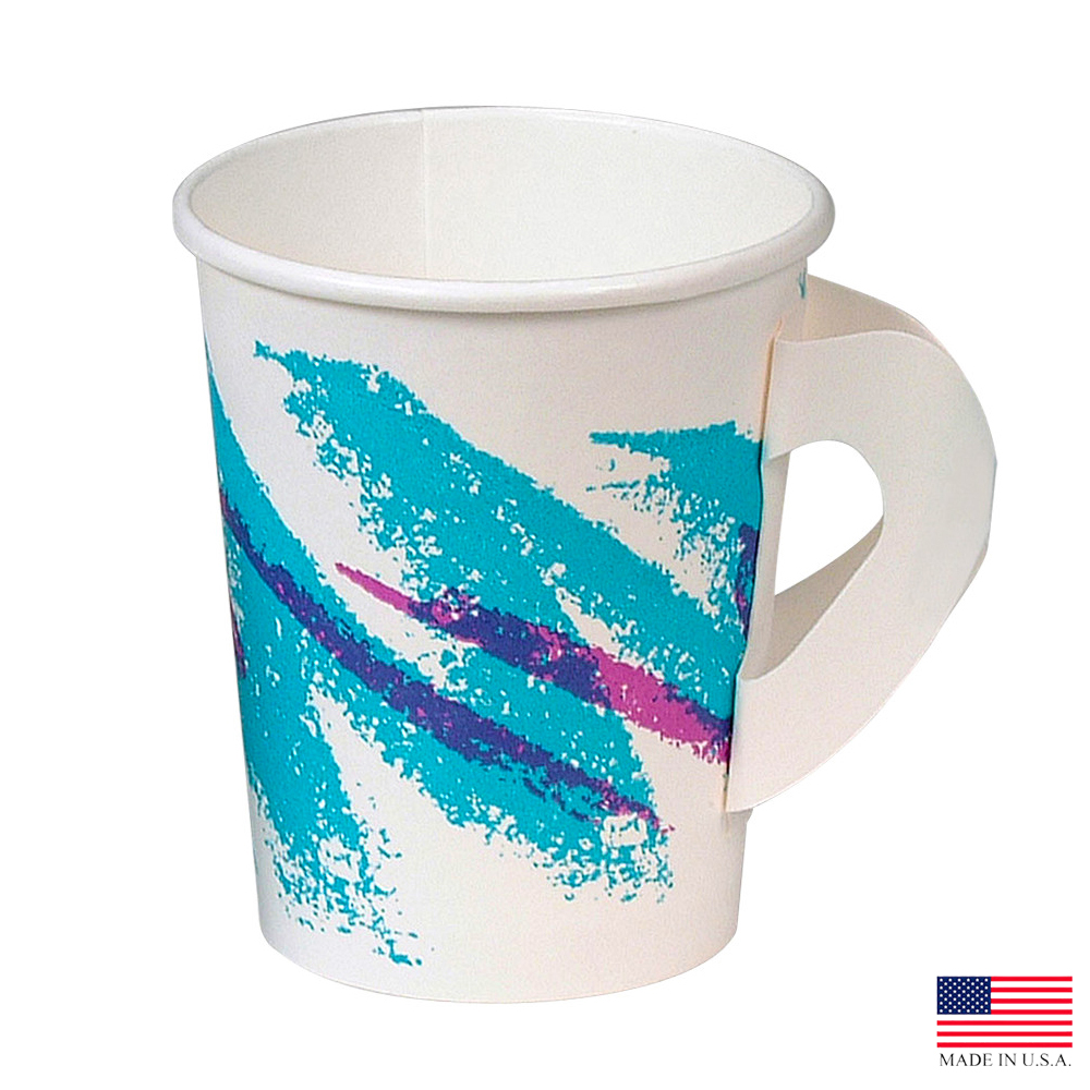 Solo Jazz 8oz Paper Hot Cup With Handle 378HJZ-00055