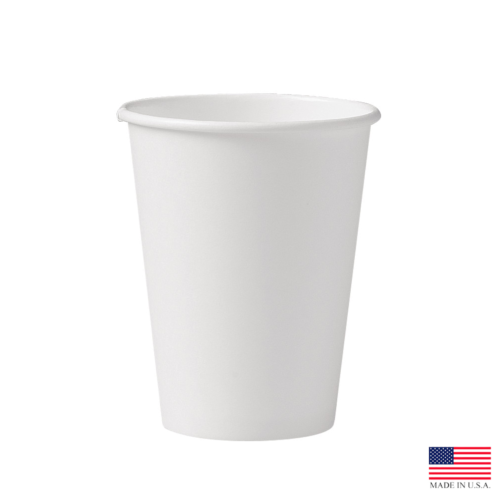 Solo Cup Co. - White 12 oz. Single Poly Paper Hot Cup 412WN-2050