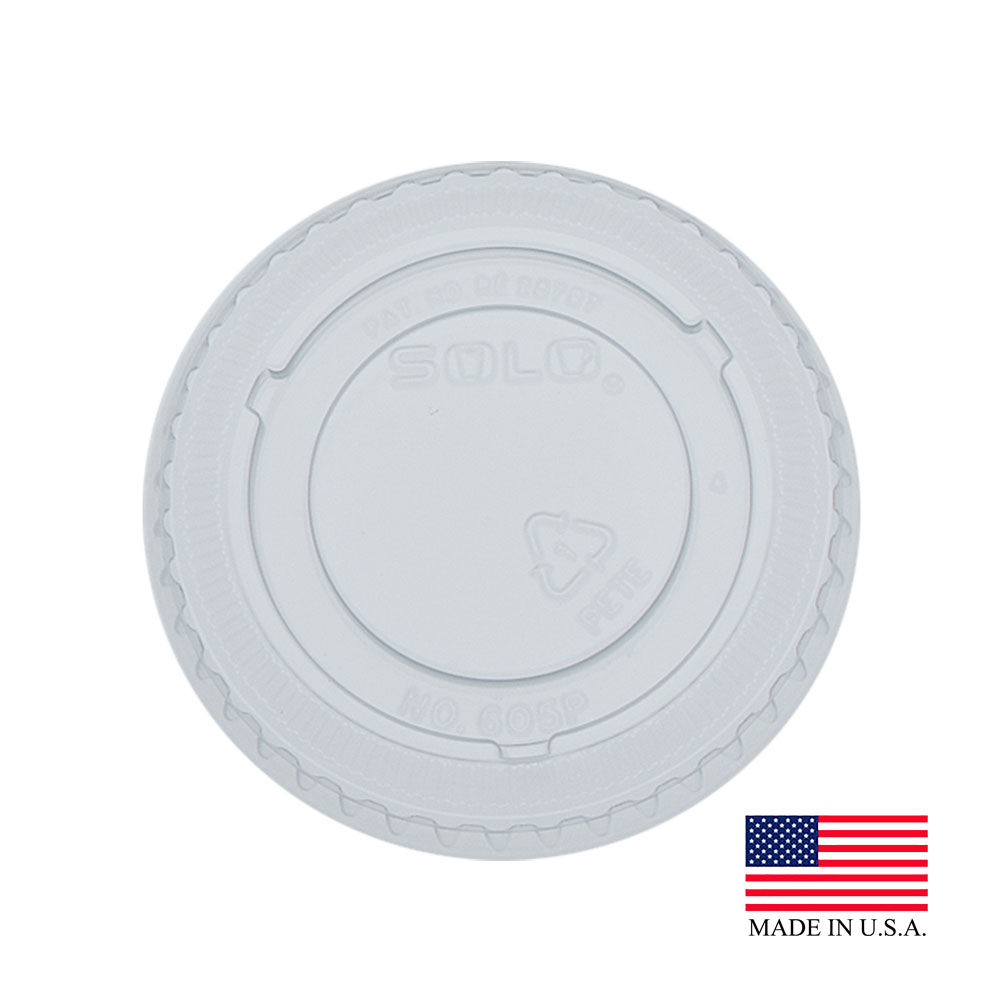 Dart - Clear 5 oz. Non Vented Plastic Lid For     605TP
