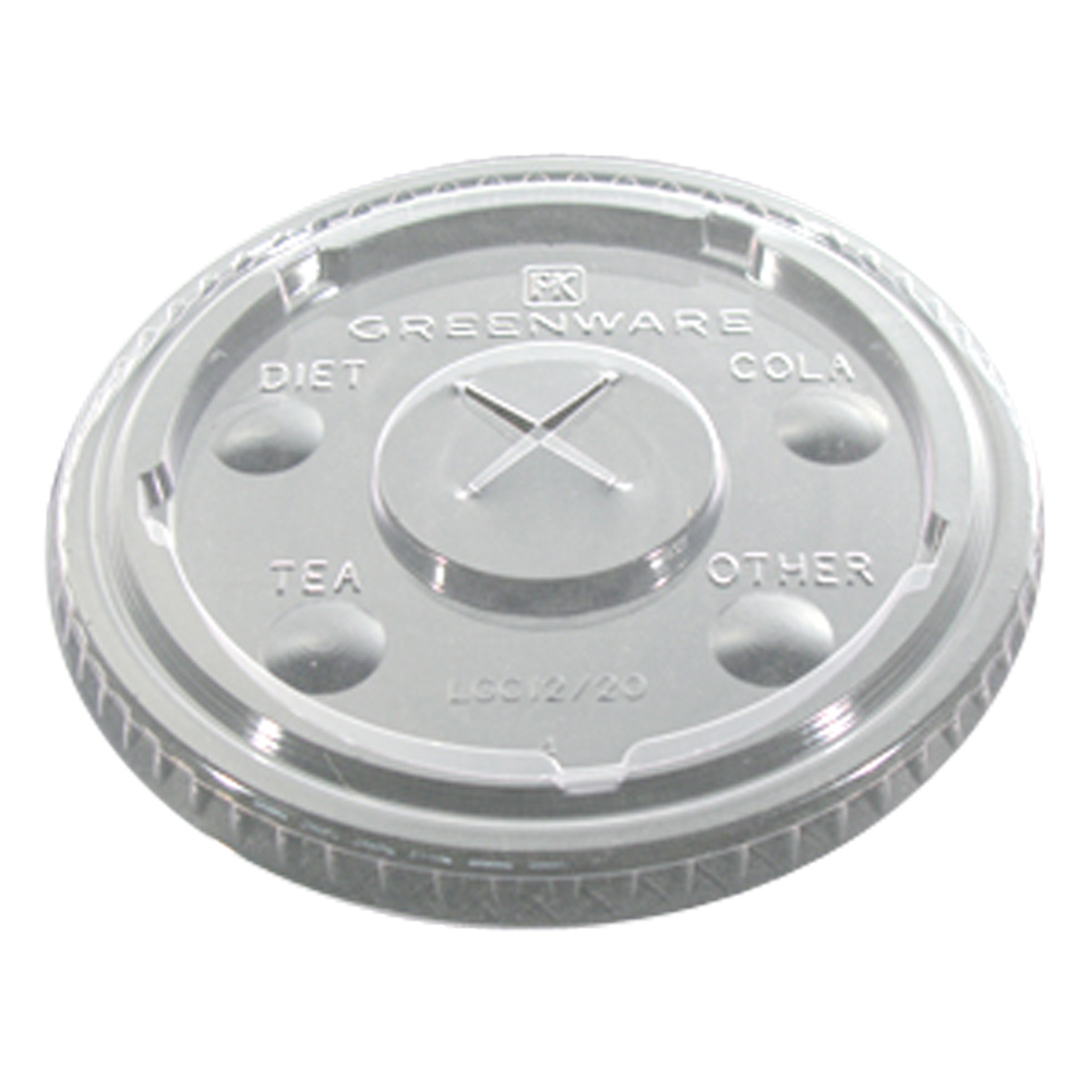 Fabrikal Clear 16/24oz X Slot Lid With Flavor Buttons LGC1624/9509112
