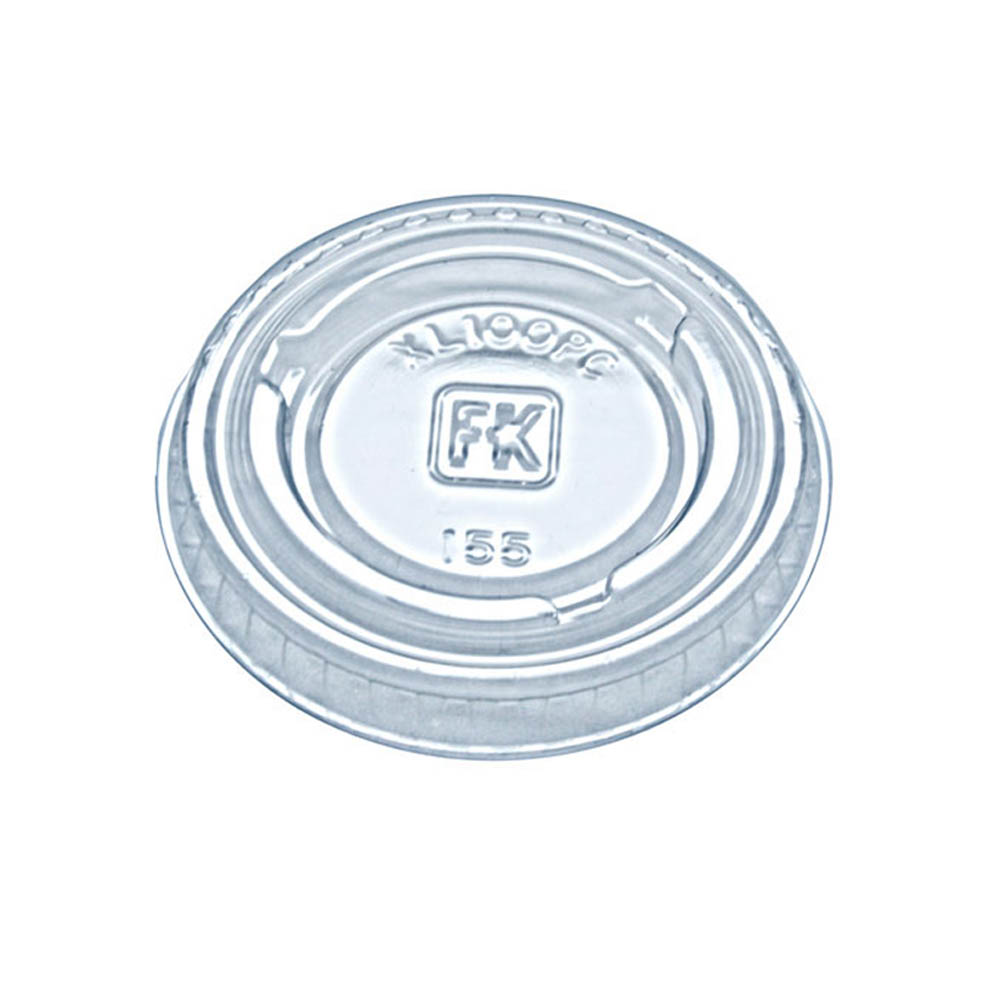 Fabrikal - Clear 1 oz. Round Plastic Portion Cup Lid XL100PC/9505082