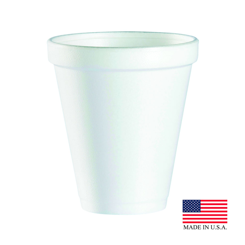 Dart - J Cup White 12 oz. Insulated Foam Drink Cup12J16