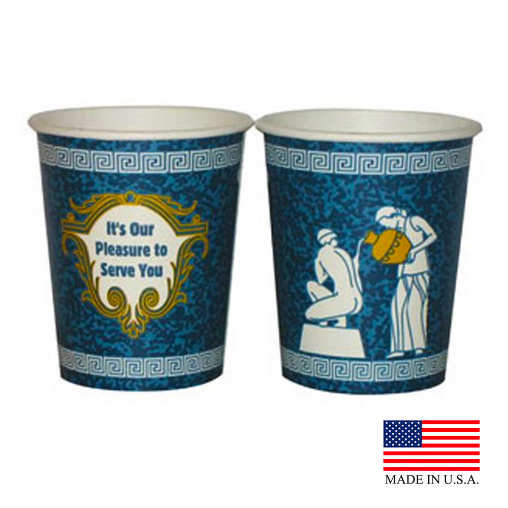 Dopaco Blue 10oz Greek Hot Cup 24260/DHC10S