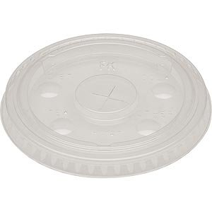 Fabrikal Clear 9/12/20oz Plastic Pet X Slot Lid   LKC12/20/9508054