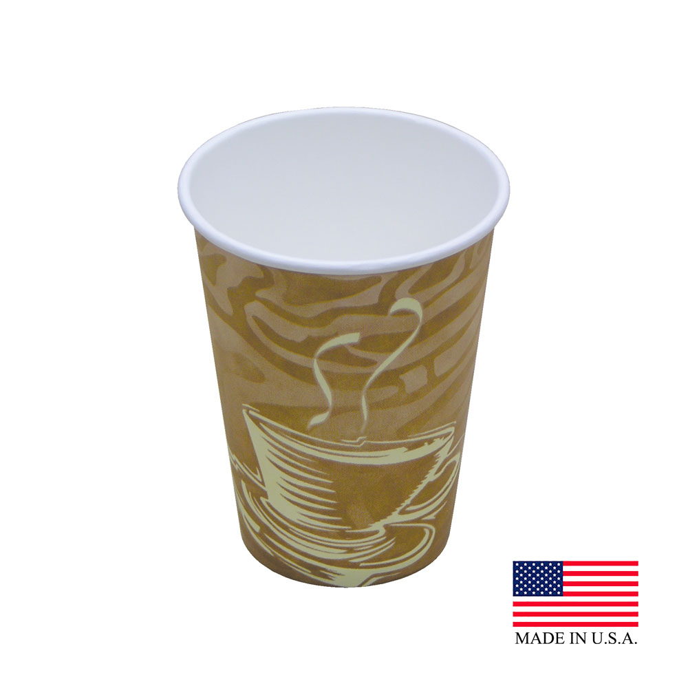 Dopaco Swirl 12oz Tall Paper Hot Cup D12THCSWL