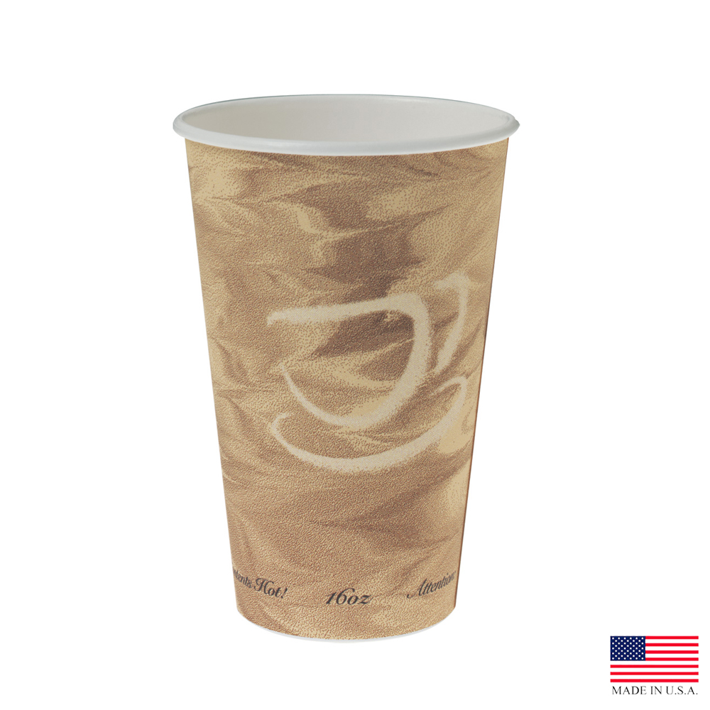 Solo Cup Co. - Mystique 16 oz. Poly Coated Paper Hot Cup 316MS-0029