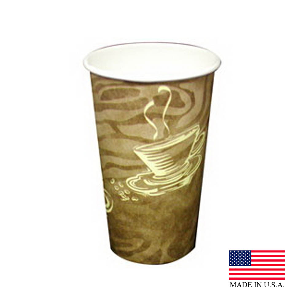 Dopaco Swirl 16oz Tall Paper Hot Cup 4856/D16HCSWL
