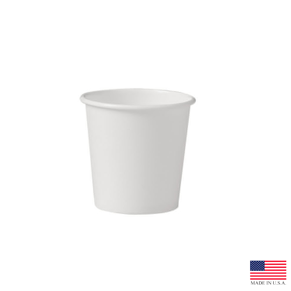 Solo White 4oz Single Poly Paper Hot Cup 374W-2050