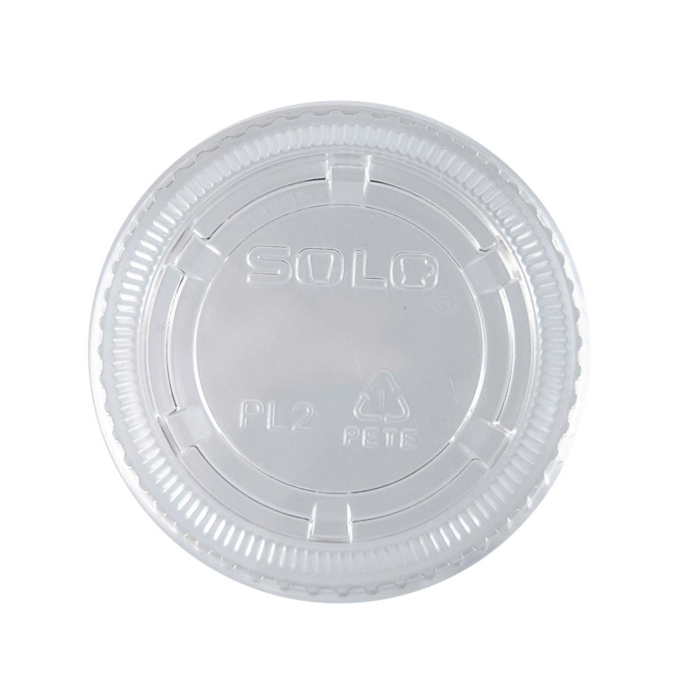 Dart - Ultra Clear  No Slot Round Plastic         Souffle Lid   PL200N