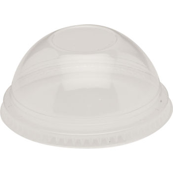 Fabrikal - Clear 16 oz. Round Plastic Dome Lid No Hole DLKC16/24NH