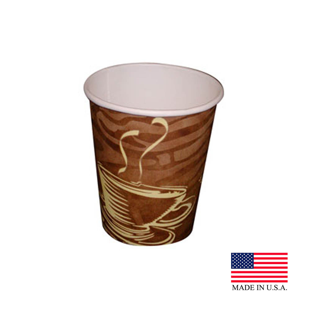 Dopaco Swirl 8oz Tall Paper Hot Cup 4834/D8HCSWL