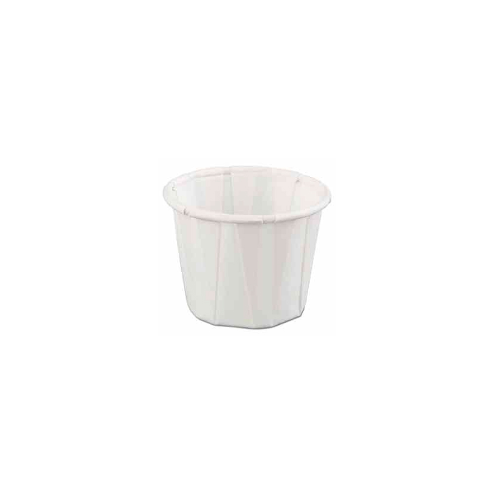 GenPack White .75oz Pleated Portion Cup F075