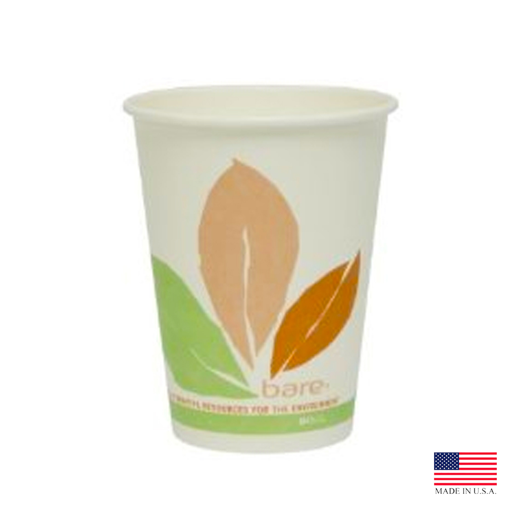 Solo Cup Printed 12oz Bare Bloom Leaf Eco Forward Paper Hot Cup 412PLN-J7234