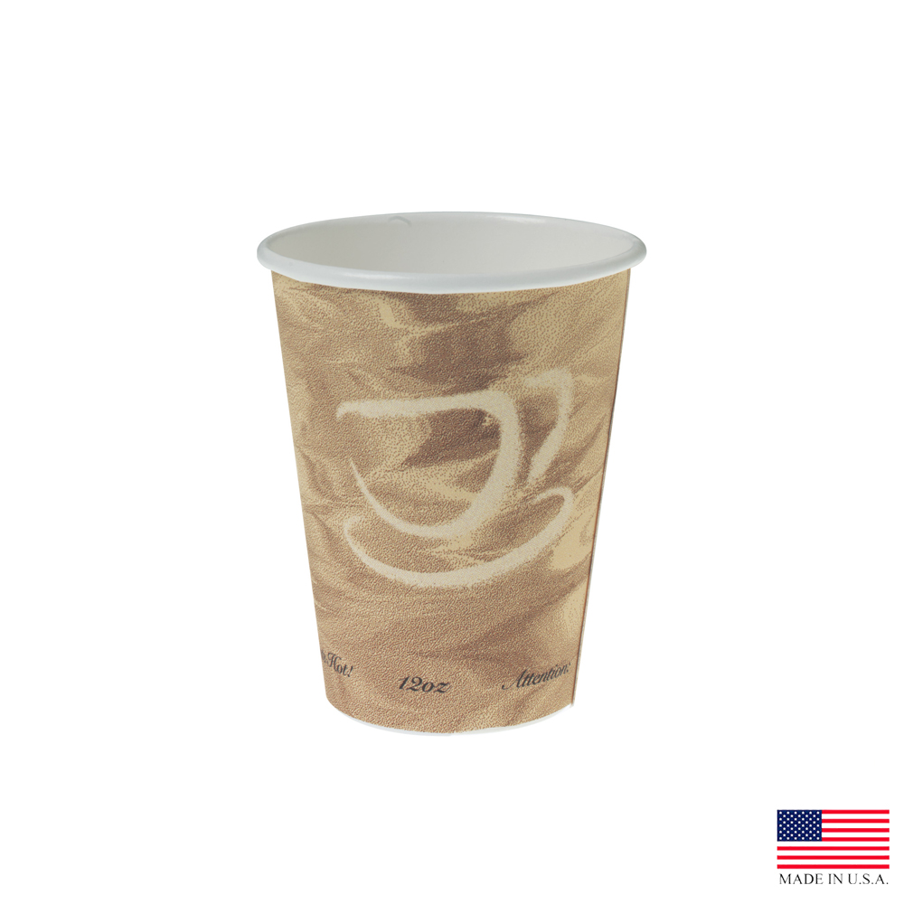 Solo Cup Co. - Mistique 12 oz. Poly Coated Paper   Hot Cup        412MSN-0029