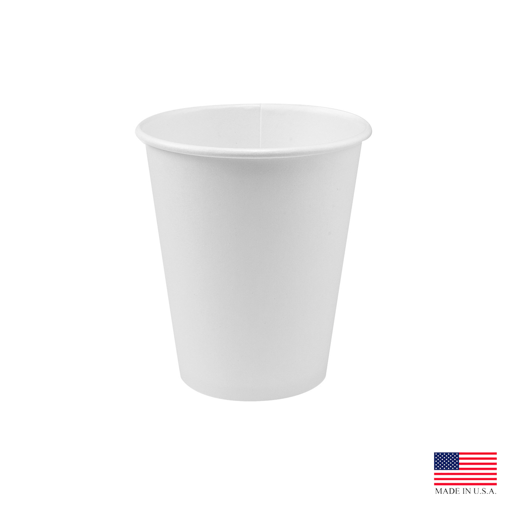 Solo White 10oz Single Poly Paper Hot Cup 370W-2050