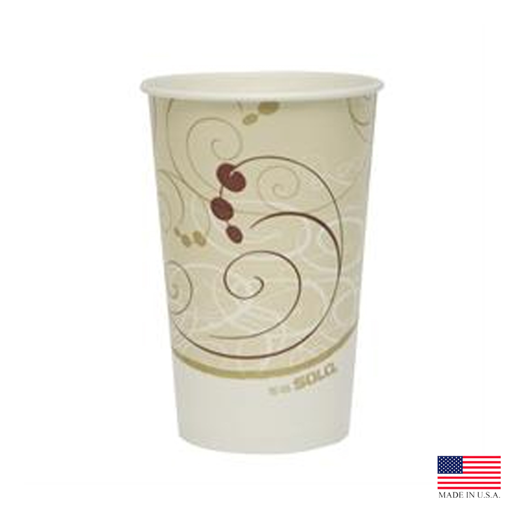 Solo Cup Printed 16oz Symphony  Poly Paper Cold   Cup RP16P-J8000