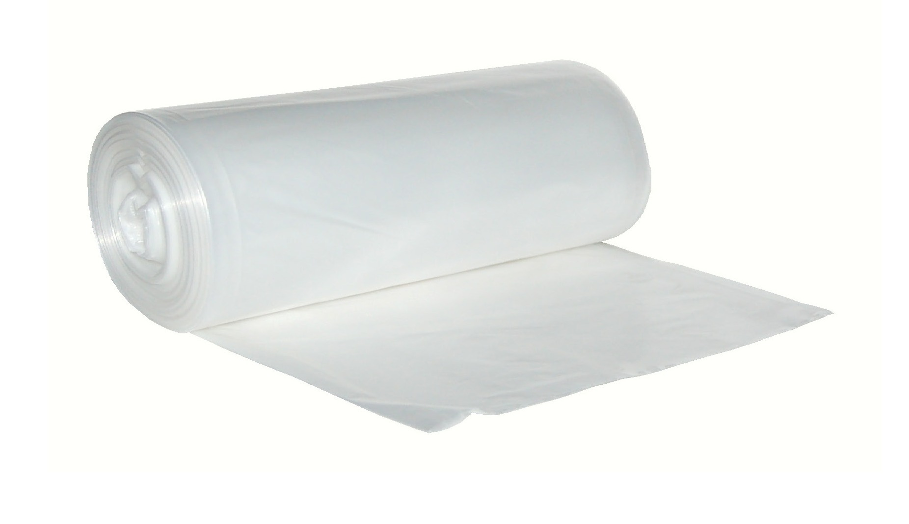 "Berry Plastics Clear 40-45 Gallon 40""x46"" .95 Can Liner On A Roll LSR4046X2C"