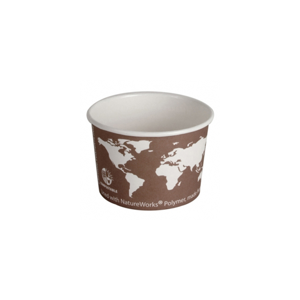 Eco Products - World Art 8 oz. Round Paper Soup   Containers / Food Cups EP-BSC8-WA