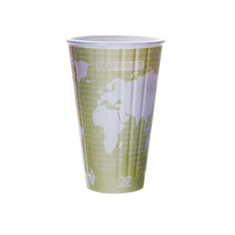 Eco Products 16oz World Art Insulated Hot Cup EP-BNHC16WD