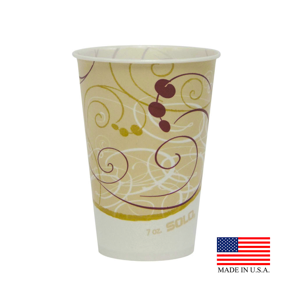 Solo Cup Co. - Symphony 7 oz. Waxed Paper Cold Cup R7N-J8000