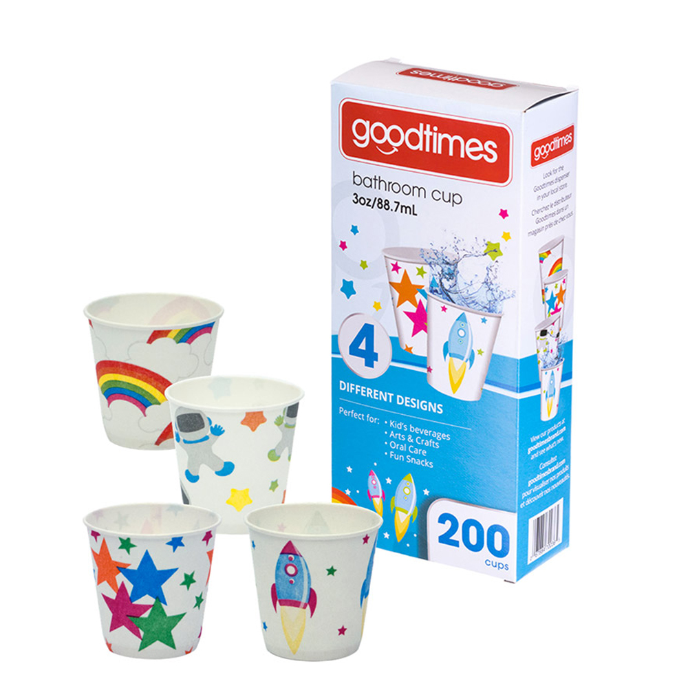 Goodtimes Printed 3oz Juvenile Bathroom Cup - 4 Designs GT036