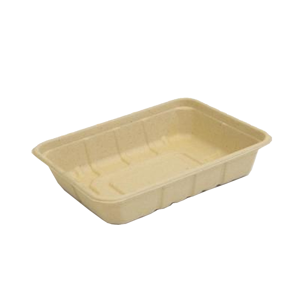 Be Green Packaging Beige 32oz Fiber Rectangular Container BG-UT-150