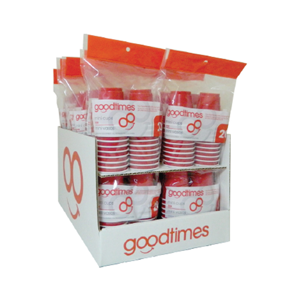 Goodtimes Red 20ct 2oz Mini Cup - Shelf Tray G0364-N