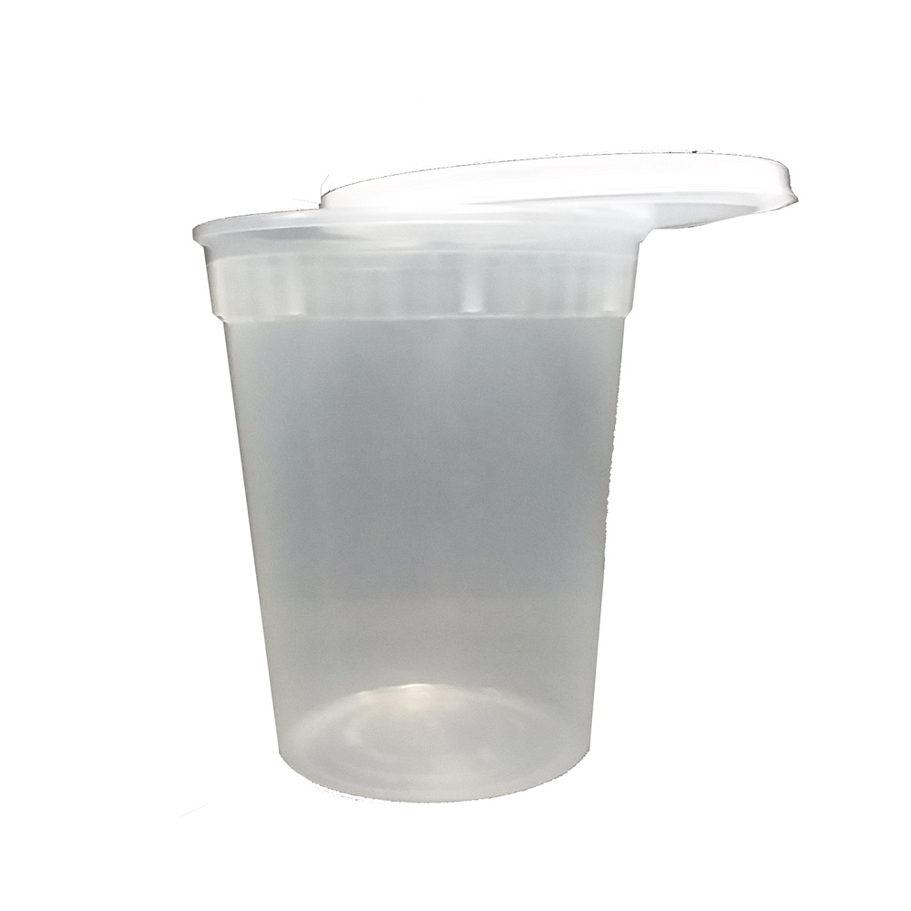 Clear 32oz Plastic Round Soup Container With Lid  LBF-2532