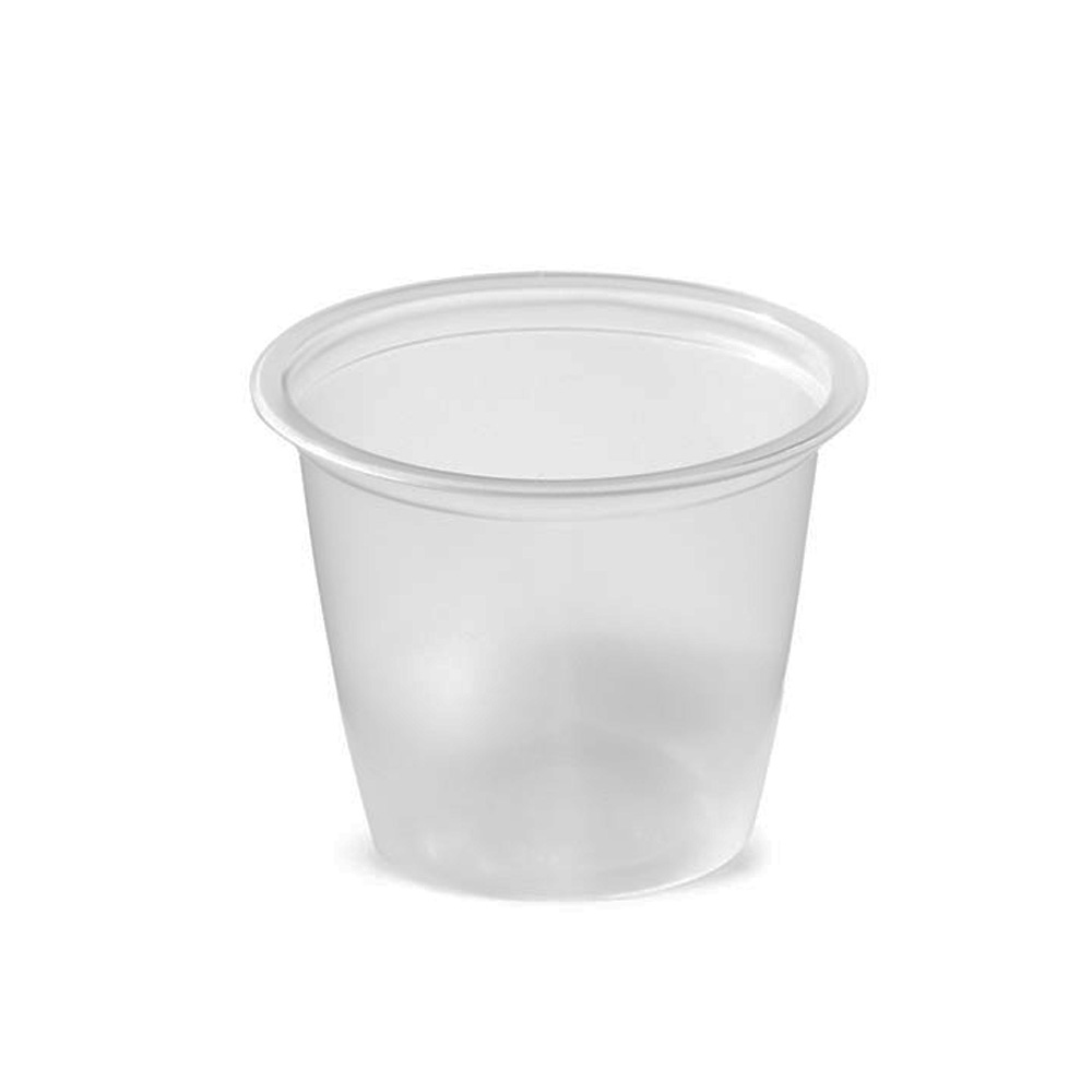 Amhil - Clear 1 oz. Polypropylene Souffle Portion Cup ASB100