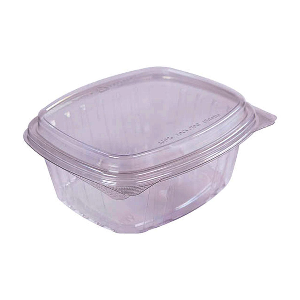 "Easypak/Douglas Stephen - Clear 6.29""x7.2""x3.01""  32 oz. Rectangular PET Hinged Tray with"