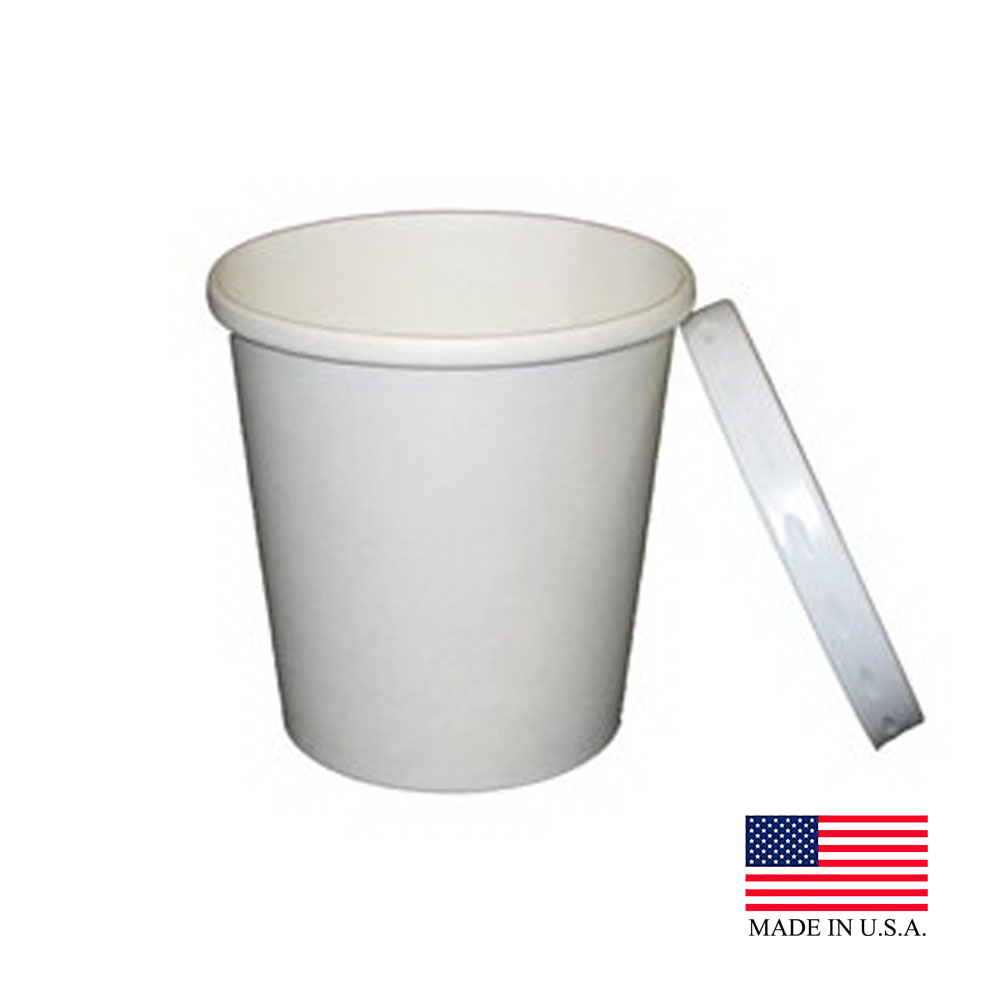 Dopaco White 12oz Soup Container With Lid D12RBLD