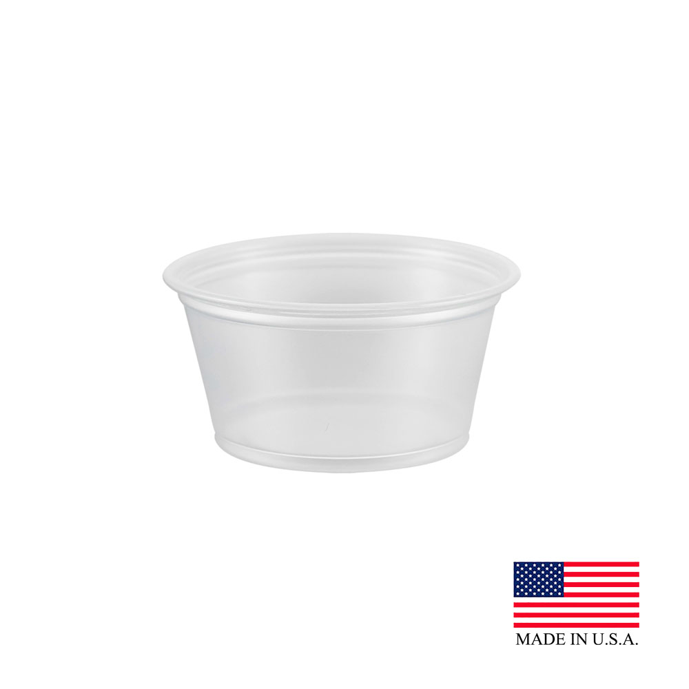 Dart Clear 2oz 2Pk Souffle Portion Cup 200PC