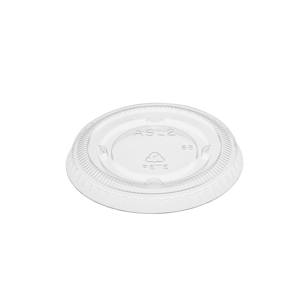 Amhil - Clear 2 oz. Polypropylene Souffle Portion Lid ASL2