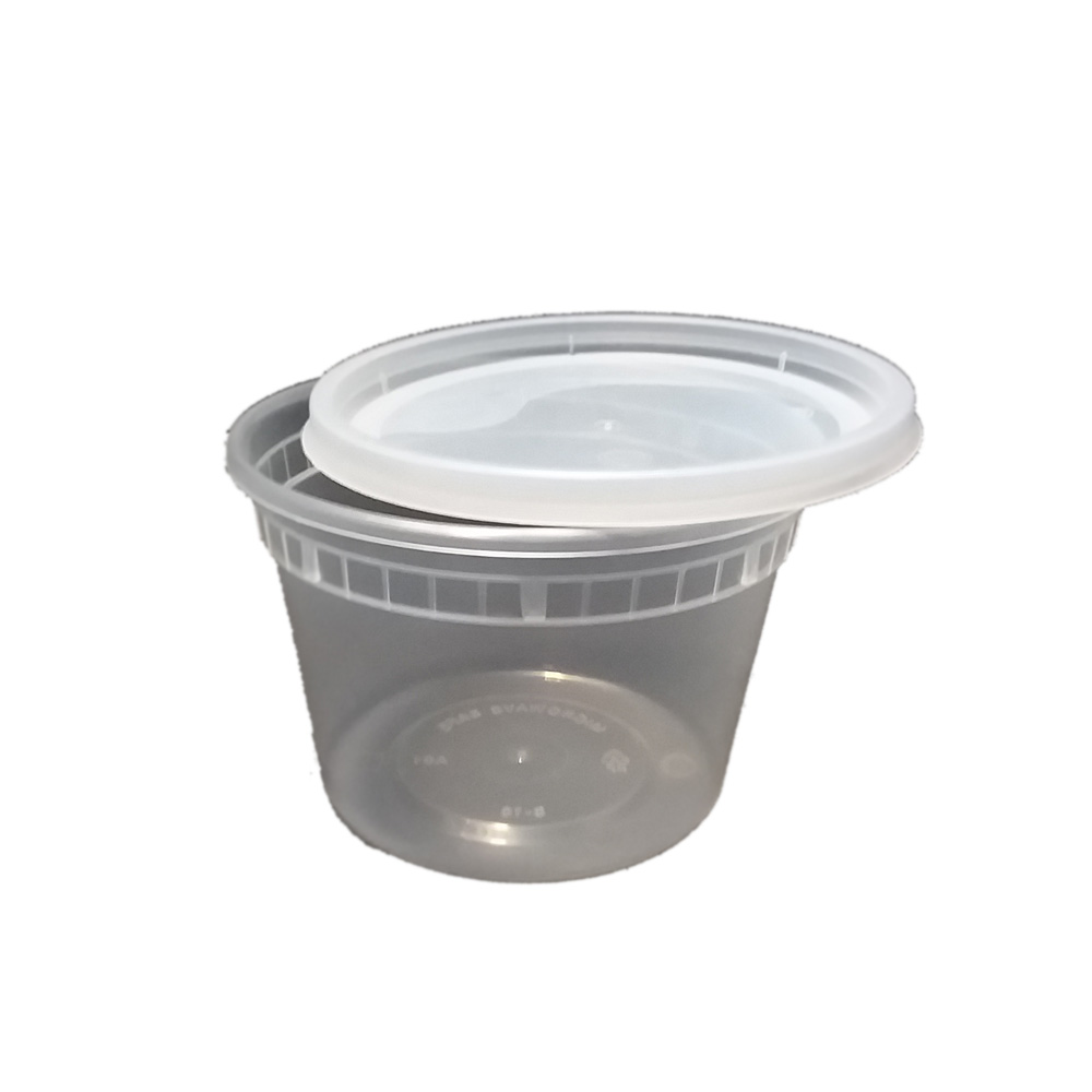 Clear 16oz Plastic Round Soup Container With Lid  LBF-2516